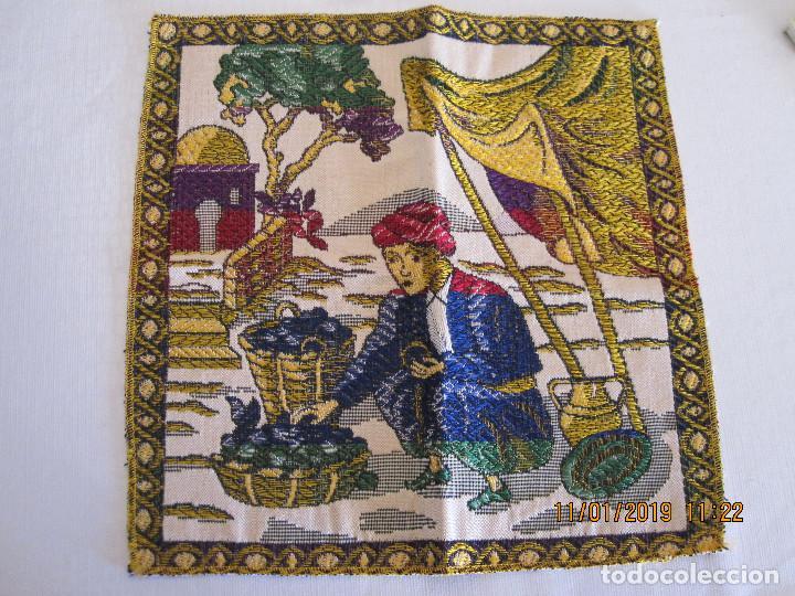 TAPETE BORDADO A MANO (Antigüedades - Hogar y Decoración - Tapetes Antiguos)