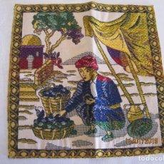 Antigüedades: TAPETE BORDADO A MANO . Lote 154271706