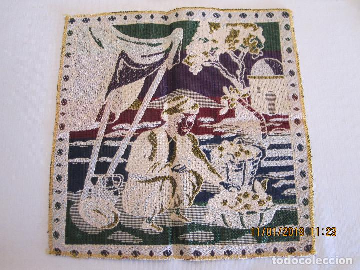 Antigüedades: tapete bordado a mano - Foto 2 - 154271706