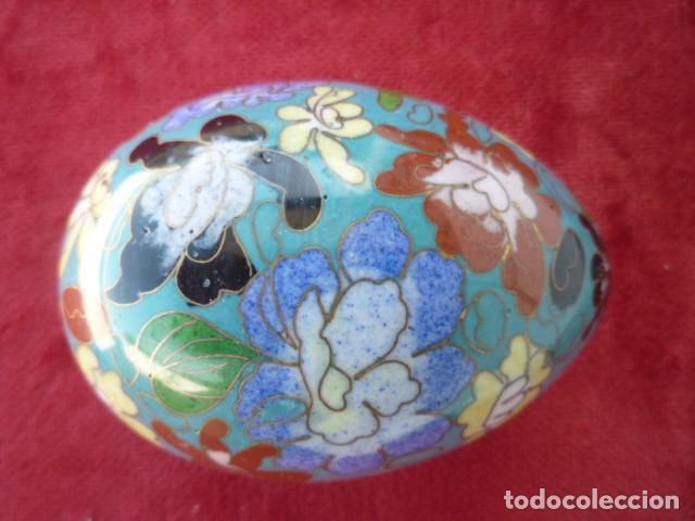 Antigüedades: GRAN HUEVO CHINO , CLOISONNE 9 CMS. DE MUSEO - Foto 3 - 154281766