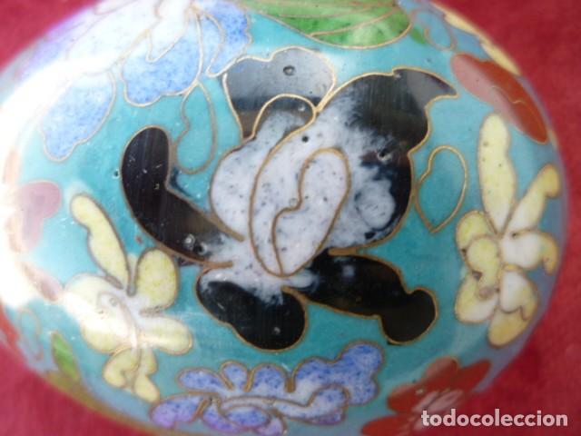 Antigüedades: GRAN HUEVO CHINO , CLOISONNE 9 CMS. DE MUSEO - Foto 6 - 154281766