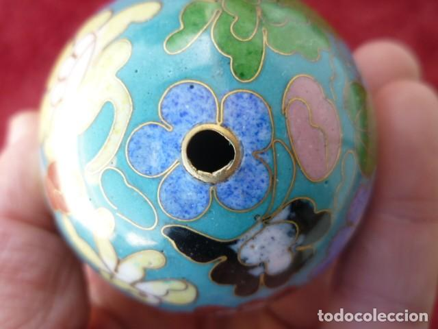 Antigüedades: GRAN HUEVO CHINO , CLOISONNE 9 CMS. DE MUSEO - Foto 8 - 154281766