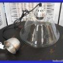 Antigüedades: LAMPARA DE CRISTAL O FOCO DE TECHO CON FORMA ACAMPANADA IDEAL PARA COCINA. Lote 154314910