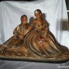 Antigüedades: IMPRESIONANTE ESCULTURA FIGURA JEAN CARLI 184 ENAMORADOS 1ª MITAD XX BELGICA. Lote 154315974