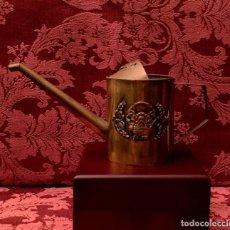 Antigüedades: ANTIGUA REGADERA CHINA DE LATÓN CON FILIGRANA PARA BONSAIS.. Lote 154328146