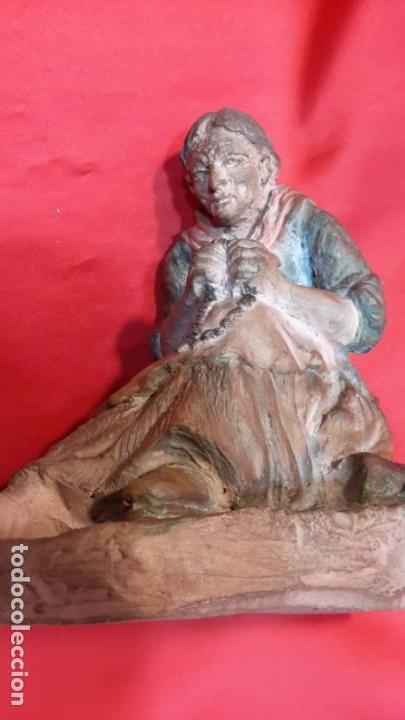 Antigüedades: INTERESANTE ESCULTURA EN TERRACOTA. FIRMA DEL AUTOR. - Foto 3 - 154345914