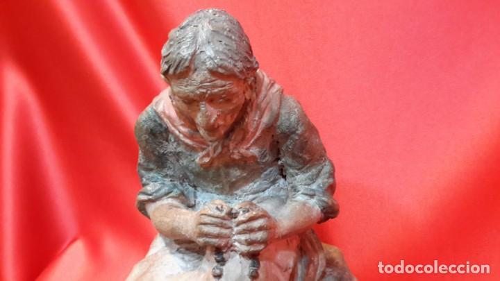 Antigüedades: INTERESANTE ESCULTURA EN TERRACOTA. FIRMA DEL AUTOR. - Foto 7 - 154345914