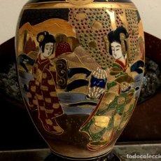 Antigüedades: ANTIGUA LÁMPARA - JARRÓN EN PORCELANA DE SATSUMA - SELLADA.. Lote 154350106