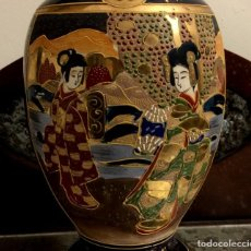 Antiguidades: ANTIGUA LÁMPARA - JARRÓN EN PORCELANA DE SATSUMA - SELLADA.. Lote 154350106