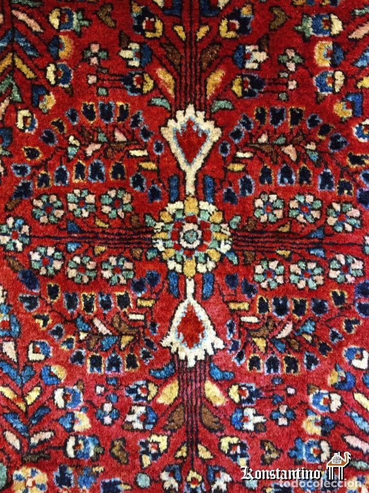 Antigüedades: Alfombra Sarouk antiguo, finales del siglo XIX - Foto 2 - 154374938