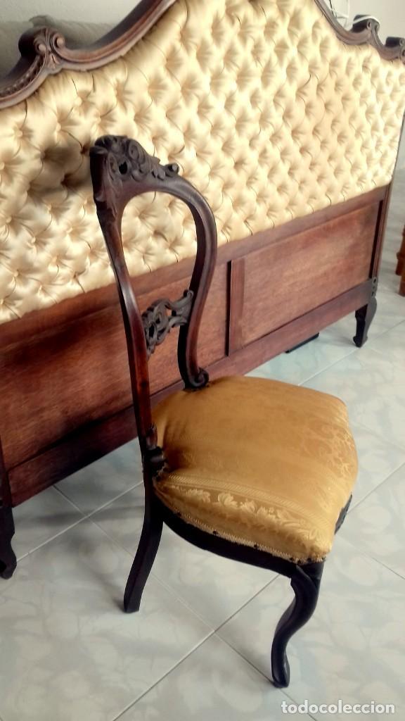 Antigüedades: Silla isabelina caoba - Foto 2 - 154379238
