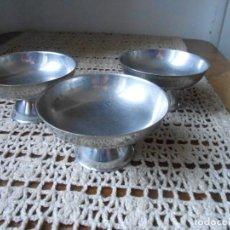 Antigüedades: 3 COPAS HELADO INOX.. Lote 154390338