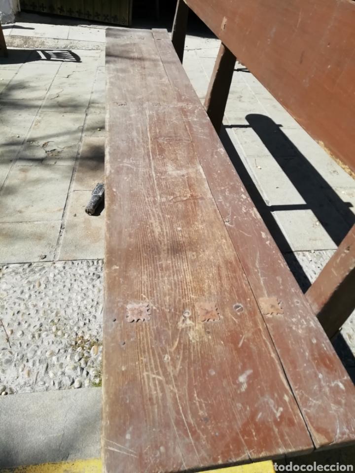 Antigüedades: Antigua banca de iglesia - Foto 3 - 154392265