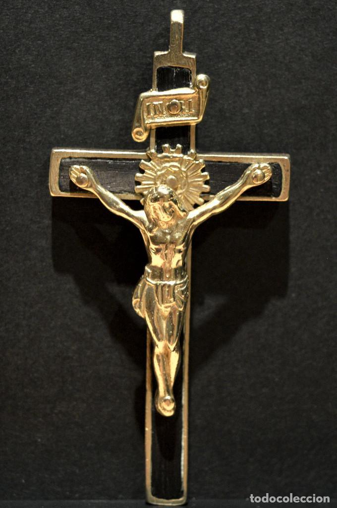 ANTIGUO CRUCIFIJO 6,5CM X 4CM (Antigüedades - Religiosas - Crucifijos Antiguos)