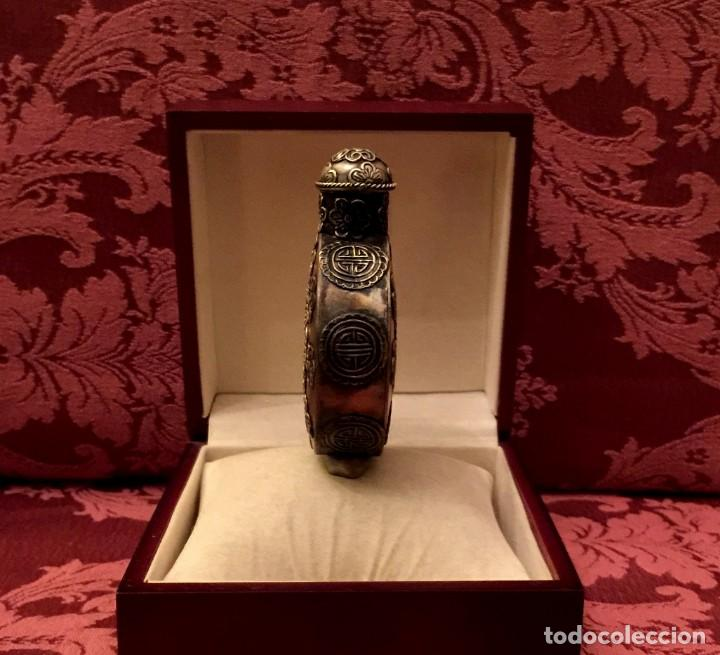 Antigüedades: SNUFF BOTTLE - PERFUMERO DE PLATA MIAO REPUJADA - 61 GRAMOS. - Foto 3 - 154434934