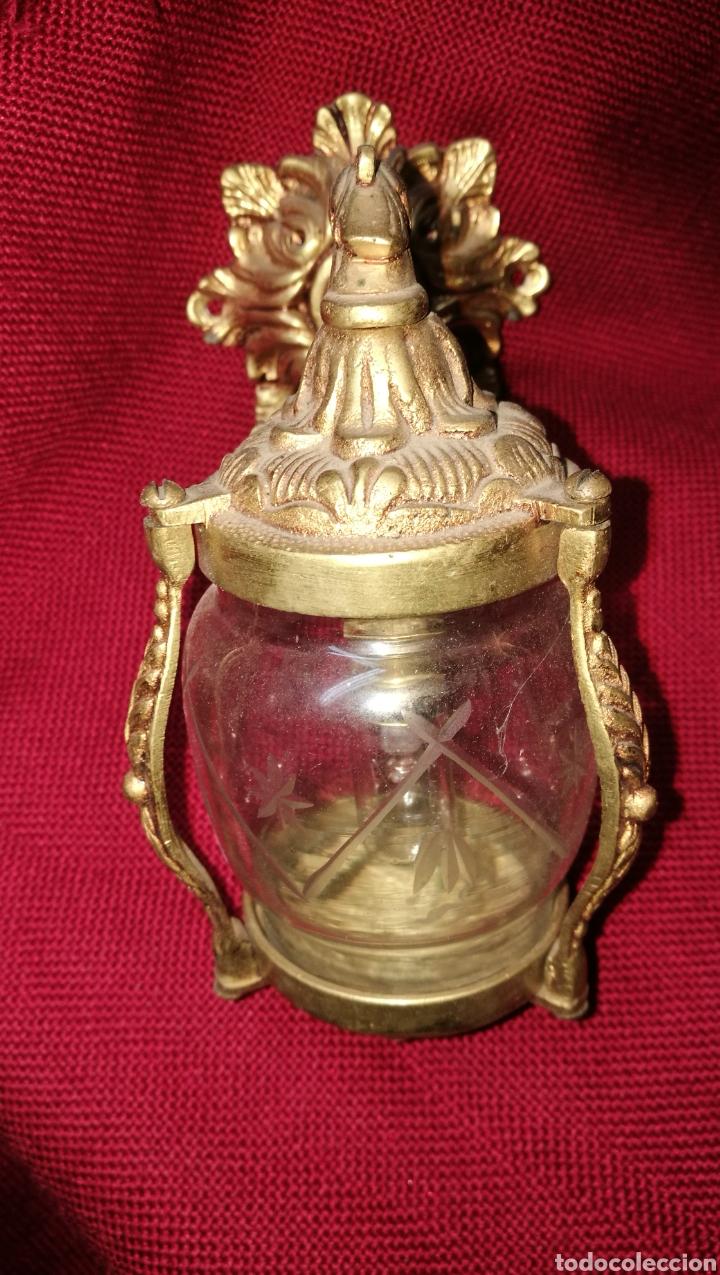 Antigüedades: ANTIGUO FAROLITO EN BRONCE - Foto 2 - 154450525
