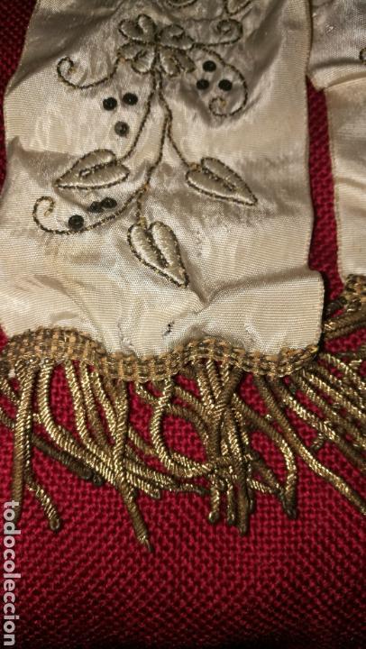 Antigüedades: ANTIGUO LAZO BORDADO EN HILO ORO - Foto 3 - 154450844