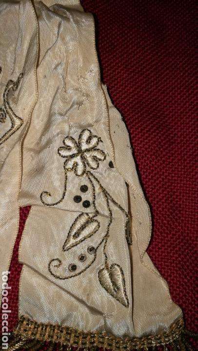 Antigüedades: ANTIGUO LAZO BORDADO EN HILO ORO - Foto 5 - 154450844