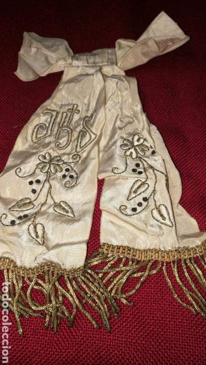 Antigüedades: ANTIGUO LAZO BORDADO EN HILO ORO - Foto 6 - 154450844