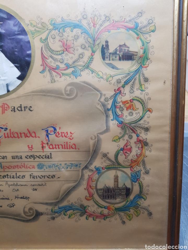 Antigüedades: Documento Bendicion Papal año 1876 - Foto 5 - 154471686