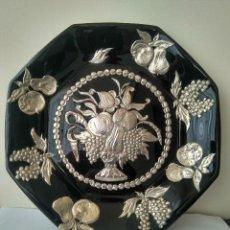 Antigüedades: ANTIGUO PLATO DECORADO A MANO SIGLO XIX. Lote 154483478