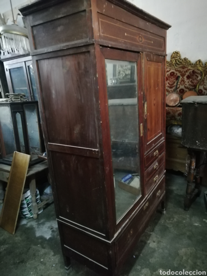 Antigüedades: Antiguo armario modernista - Foto 2 - 154496442