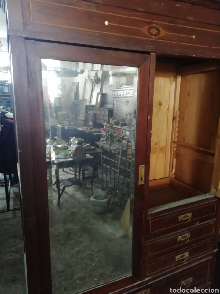 Antigüedades: Antiguo armario modernista - Foto 9 - 154496442