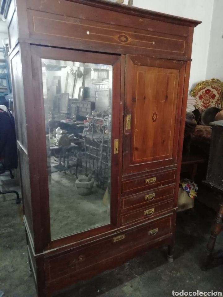 Antigüedades: Antiguo armario modernista - Foto 10 - 154496442