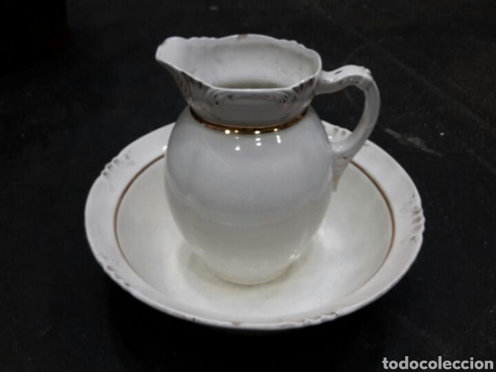 ANTIGUAS PALANGANA Y JARRA DE PORCELANA (Antigüedades - Porcelanas y Cerámicas - Otras)