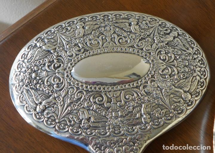 Antigüedades: ANTIGUO JUEGO TOCADOR PLATA 925 Y CRISTAL TALLADO. VER FOTOS - Foto 15 - 154524630