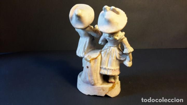 Antigüedades: Figurita porcelana antigua - Foto 4 - 154559026