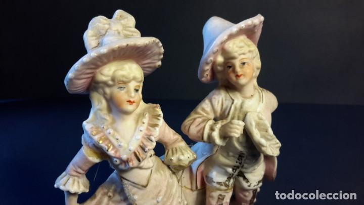 Antigüedades: Figurita porcelana antigua - Foto 6 - 154559026