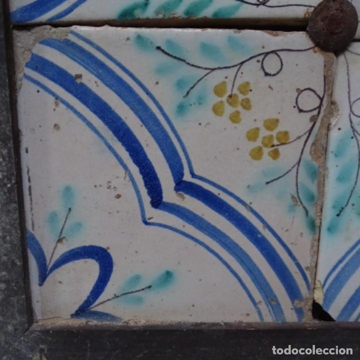 Antigüedades: Plafón 4 azulejos antiguos de porcelana catalana. - Foto 4 - 154567278