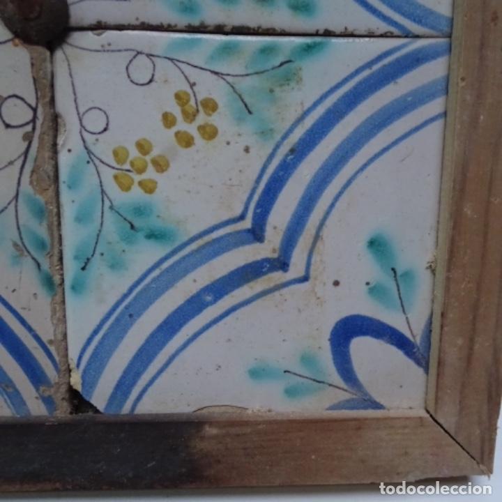 Antigüedades: Plafón 4 azulejos antiguos de porcelana catalana. - Foto 5 - 154567278