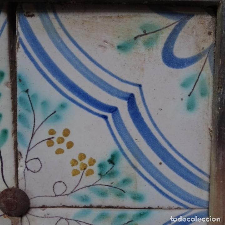 Antigüedades: Plafón 4 azulejos antiguos de porcelana catalana. - Foto 6 - 154567278