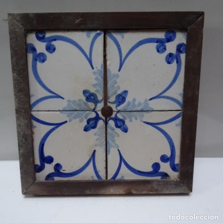 Antigüedades: Plafón 4 azulejos antiguos de porcelana catalana. - Foto 2 - 154567310