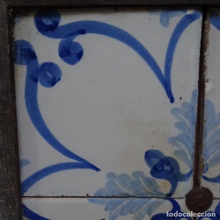 Antigüedades: Plafón 4 azulejos antiguos de porcelana catalana. - Foto 3 - 154567310