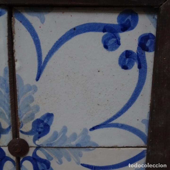 Antigüedades: Plafón 4 azulejos antiguos de porcelana catalana. - Foto 4 - 154567310