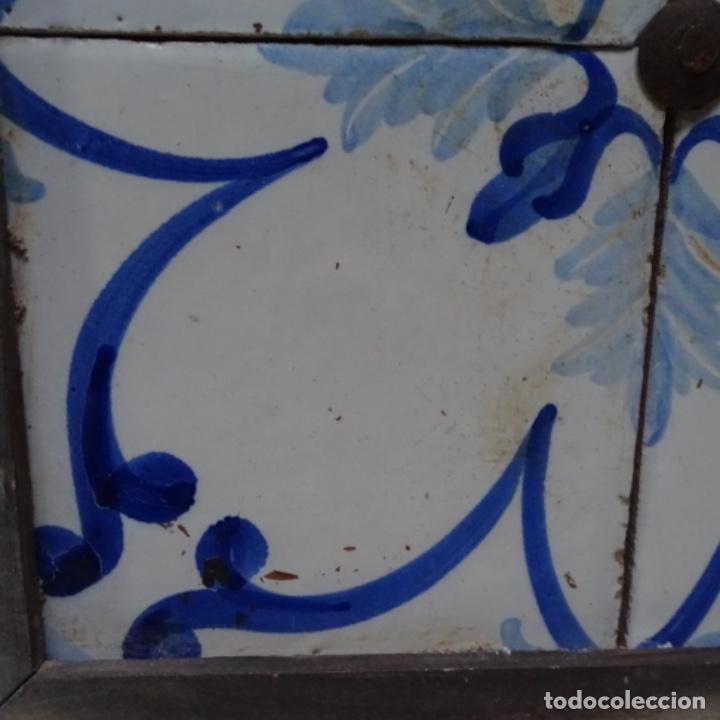Antigüedades: Plafón 4 azulejos antiguos de porcelana catalana. - Foto 5 - 154567310
