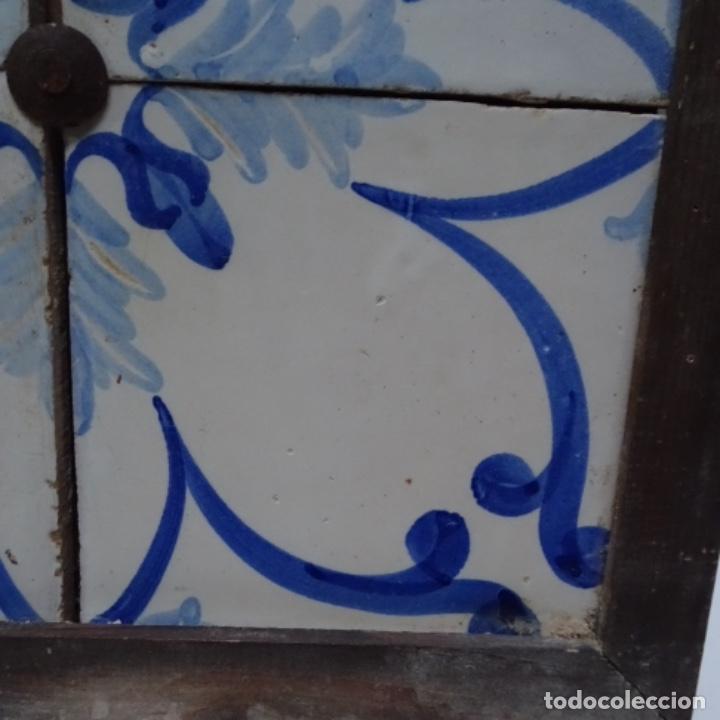 Antigüedades: Plafón 4 azulejos antiguos de porcelana catalana. - Foto 6 - 154567310