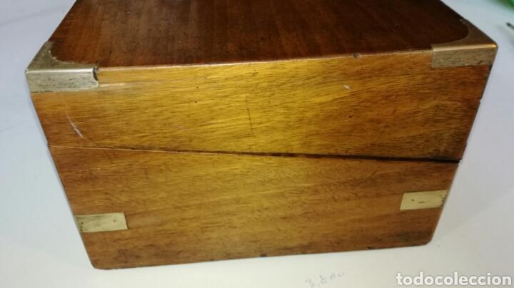 Antigüedades: Escritorio de barco o de viaje con herrajes de laton - Foto 4 - 154592536