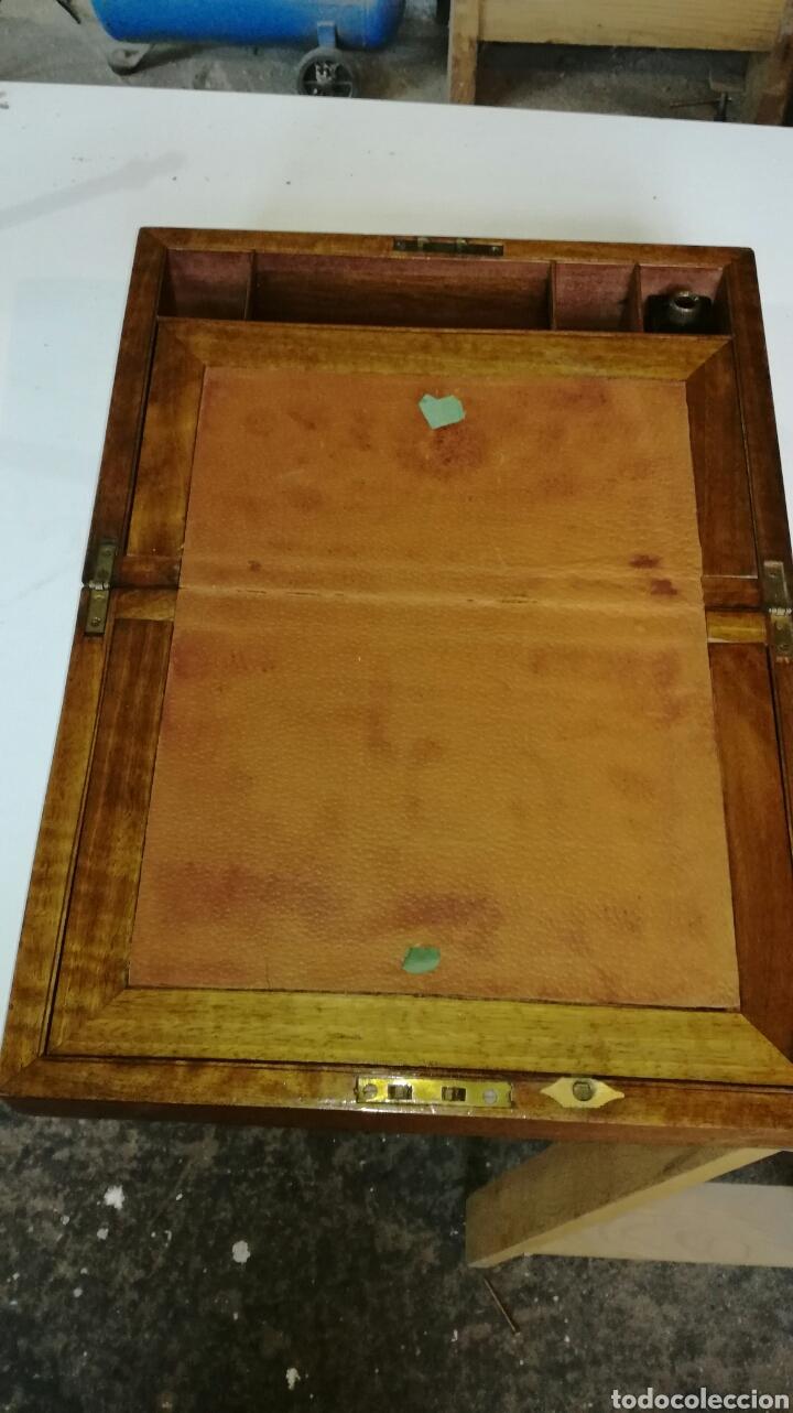 Antigüedades: Escritorio de barco o de viaje con herrajes de laton - Foto 6 - 154592536