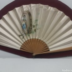 Antigüedades: ABANICO DE SEDA PINTADO. Lote 154596956