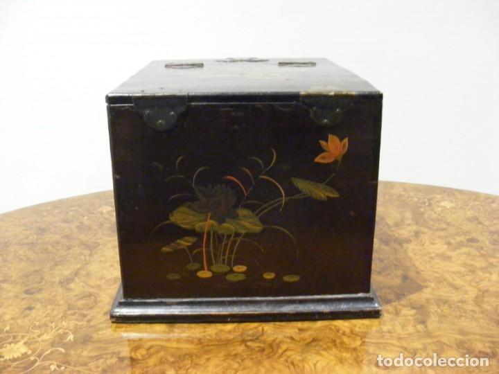 Antigüedades: CAJA TOCADOR CHINA - Foto 11 - 154617114