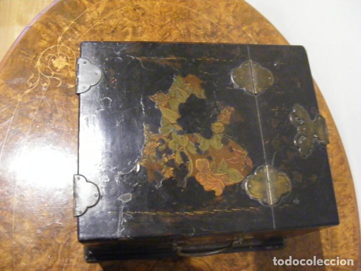 Antigüedades: CAJA TOCADOR CHINA - Foto 12 - 154617114