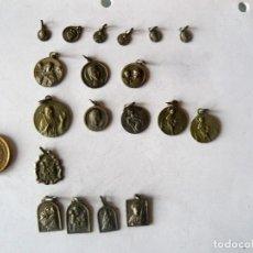Antigüedades: 19 MEDALLAS RELIGIOSAS- DIVERSAS IMAGENES-. Lote 154624074