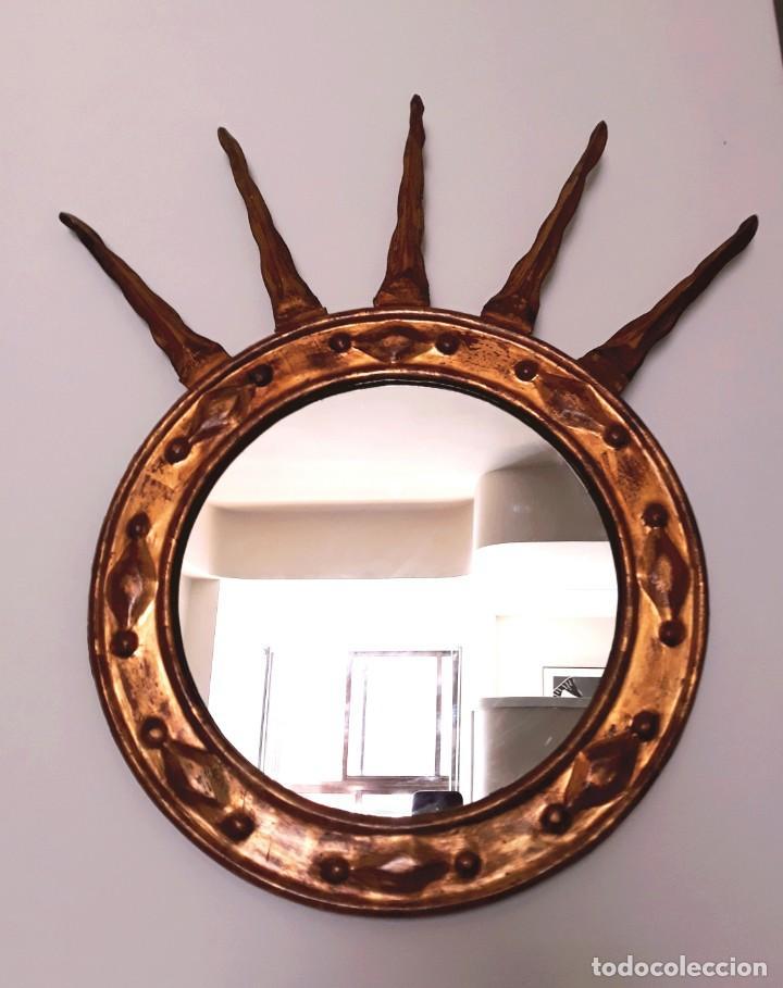 Antigüedades: Espejo Italiano Siglo XIX. Tallado y dorado - Foto 4 - 154629118