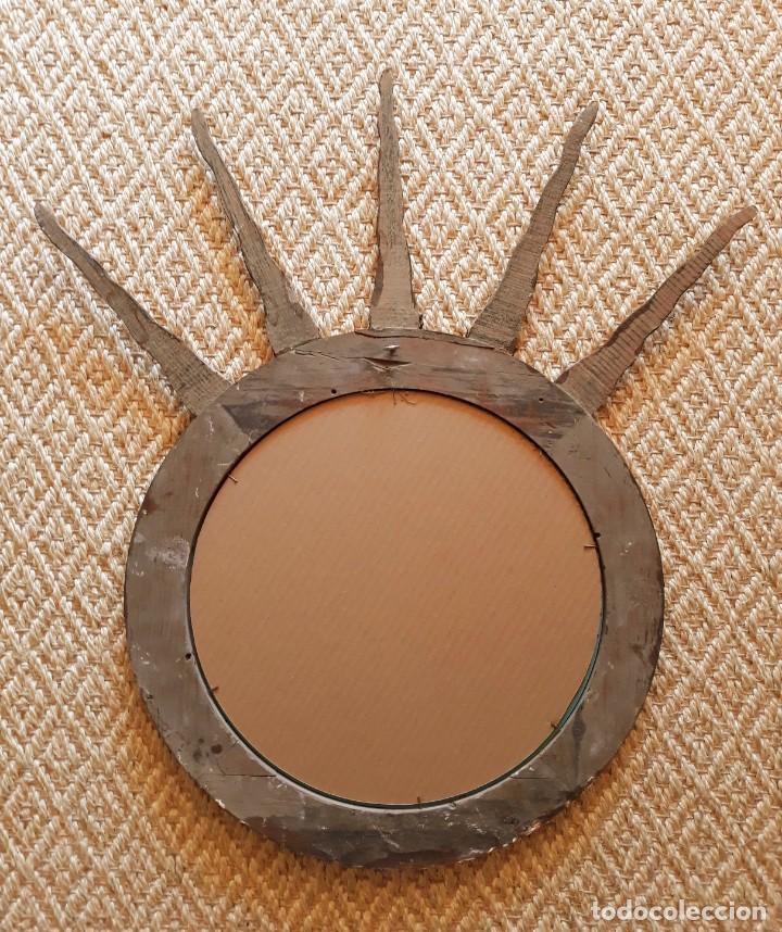 Antigüedades: Espejo Italiano Siglo XIX. Tallado y dorado - Foto 10 - 154629118