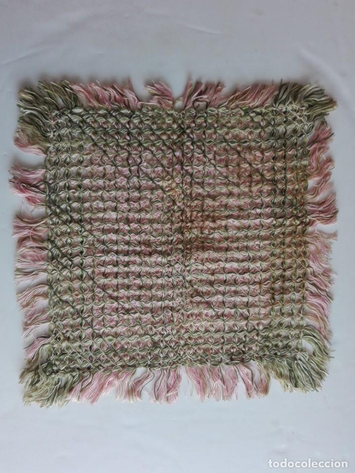 Antigüedades: Tapete artesanía en hilo - S.XIX - Foto 2 - 154630858