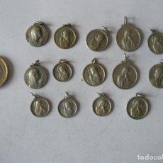 Antigüedades: 14 MEDALLAS DE SANTA ANA. Lote 154633682